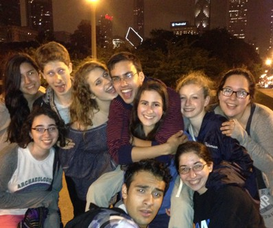 Hannah (top row, second from right) and her Or Tzedek Advanced Actiivism group in 2013.