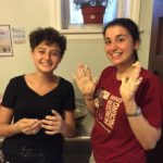 Dina & Sydney getting into challah making
