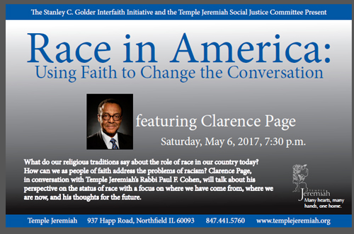 Race in America: Using Faith to Change the Conversation @ Temple Jeremiah